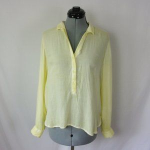 Cloth & Stone Blouse Yellow Tab Sleeve